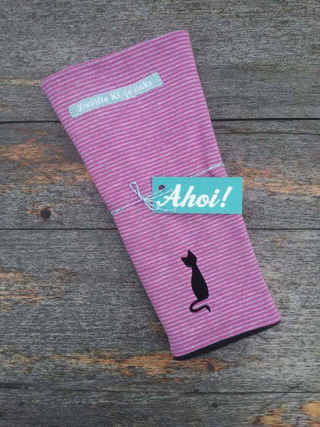 Armstulpen - Armstulpen STRAY CAT geringelt pink grau Stulpen - ein…