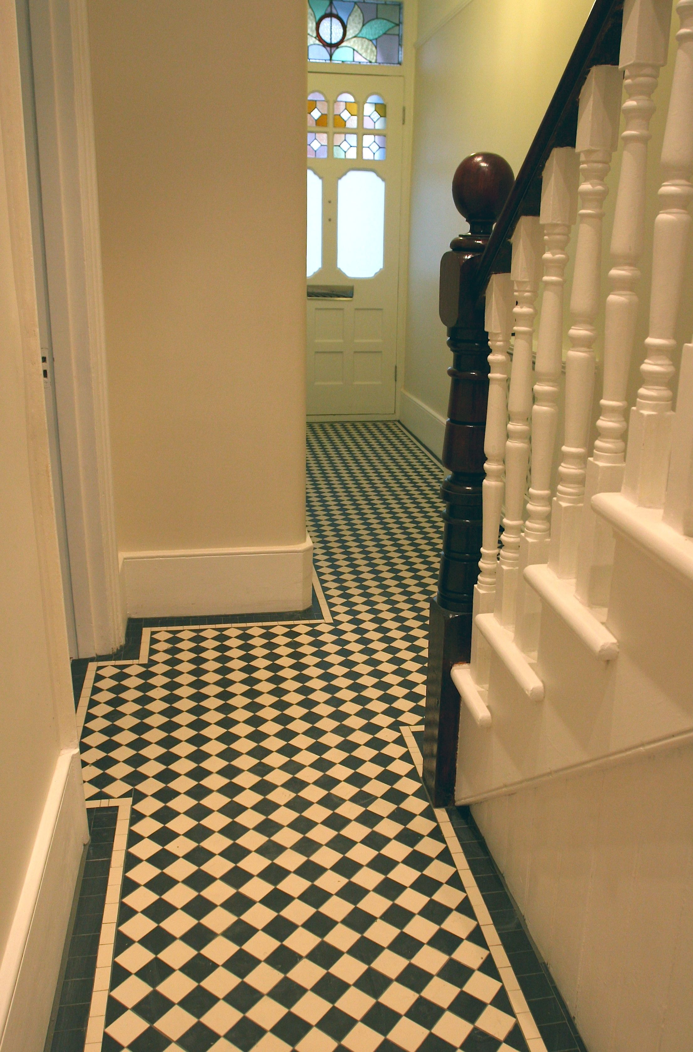 New Mosaic Tiled Hallway In Barnes London Sw13 Supplied As Sheeted