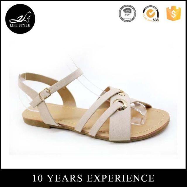 7c6023d46 Source Wholesale Footwear Fashionable Summer Buckle Ladies Flat Sandals In  China on m.alibaba.com