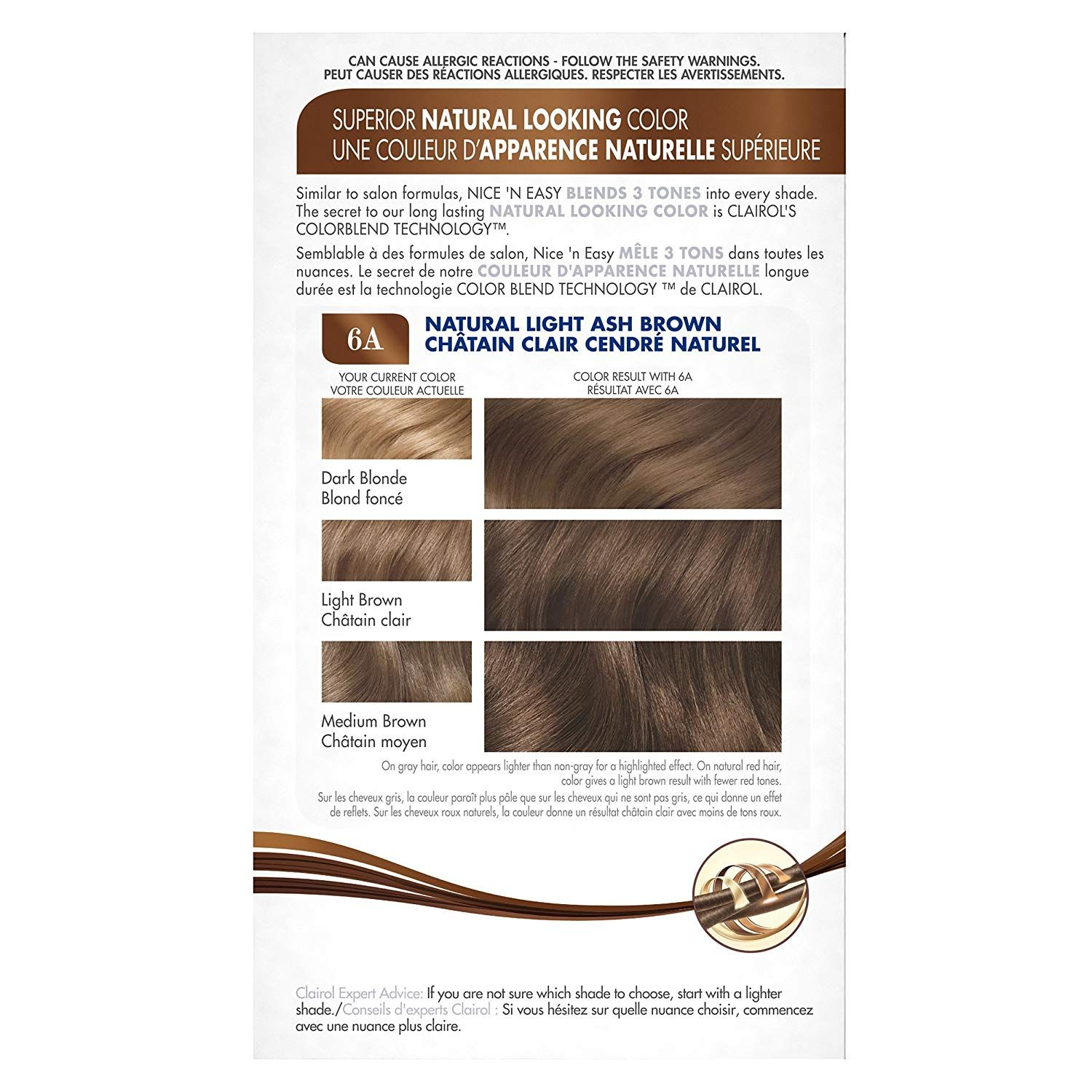 Clairol Nice N Easy Hair Color 6a 114 Natural Light Ash Brown 1