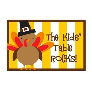 The Kids' Table Rocks! Placemat