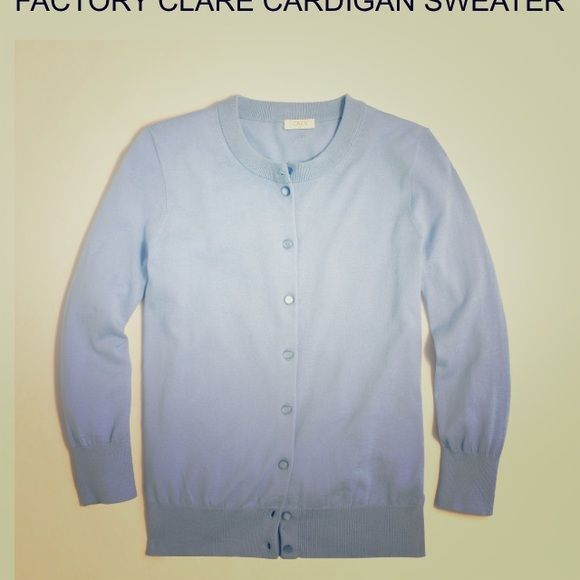 J. Crew Factory Clare cardigan in sea foam green In light mint/ sea foam green. Does show some wear in the form of pulling as shown above, generally in good used condition. 1st photo is a stock photo. J. Crew Sweaters Cardigans