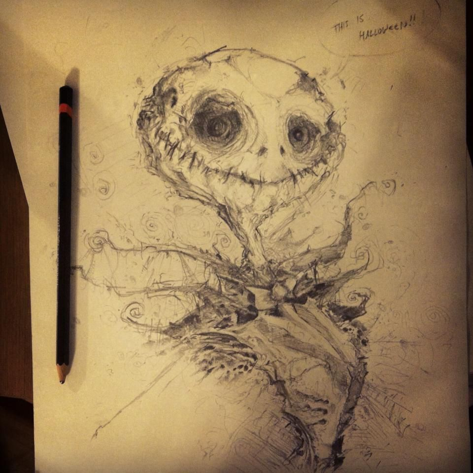 Jack Skellington - Pencil Sketch by VVernacatola.deviantart.com on ...