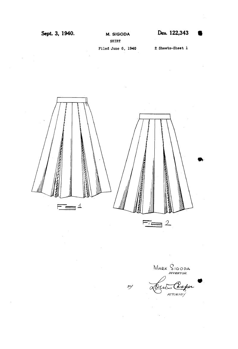1940 DESIGN FOR A SKIRT  Mark Sigroda