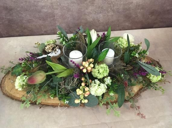 Items similar to Spring arrangement, easter decor, spring arrangement, centerpiece on Etsy