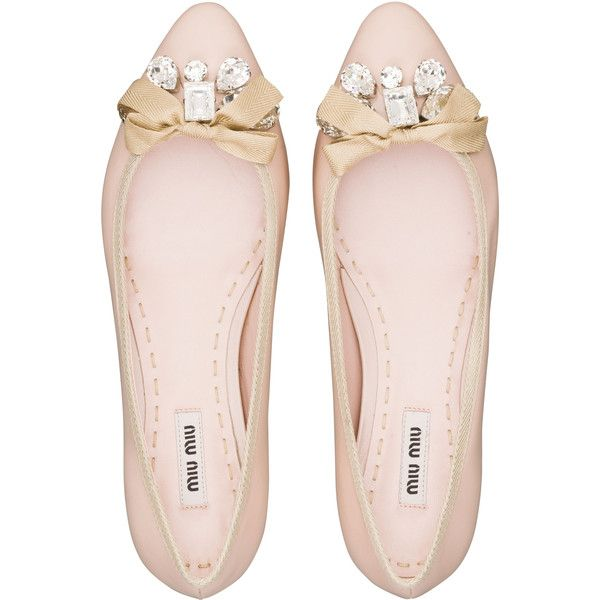 Miu Miu Ballerinas ($595) ❤ liked on Polyvore