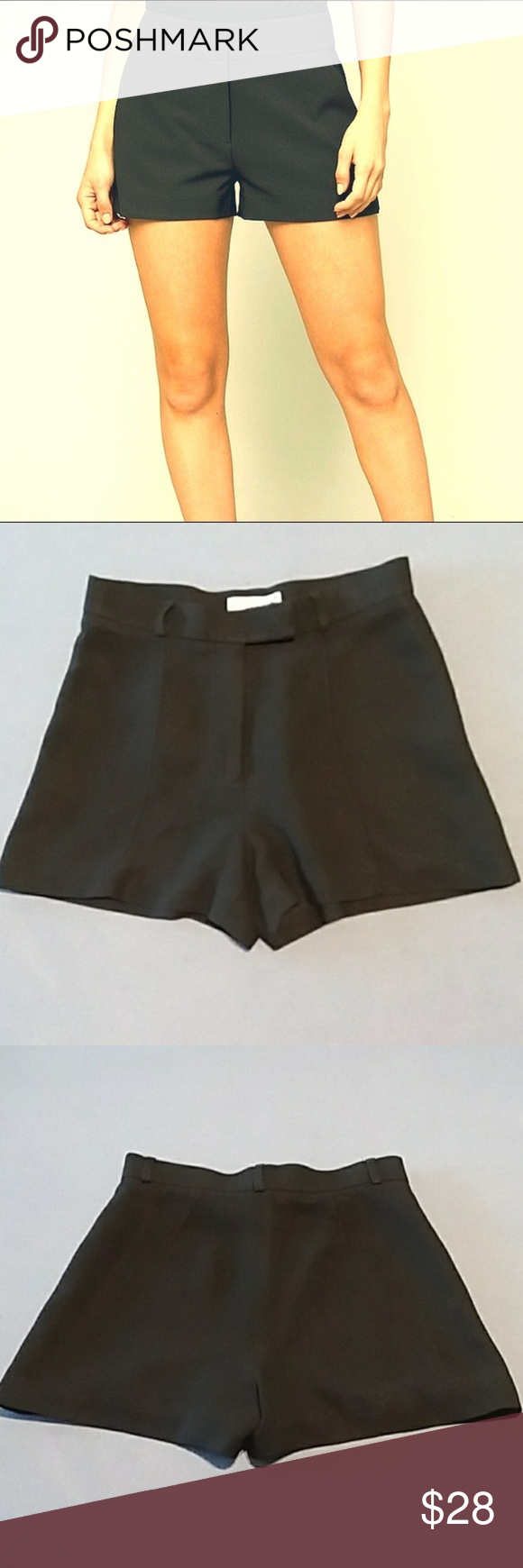 Bebe Black Shorts Cover Photo Is To Show Fit And Similar Style Actual Item Has Belt Loops And Stitch Detail Down Black Short Dress Clothes Design Short Dresses [ 1740 x 580 Pixel ]