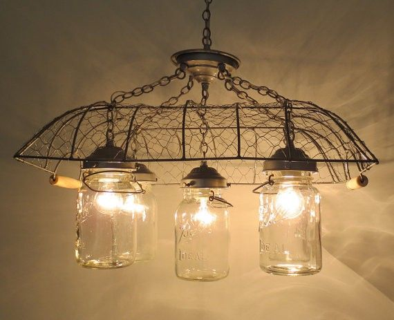 Diy chicken wire vintage inspired mason jar chandelier for 2016 new diy chicken wire vintage inspired mason jar chandelier for 2016 new year mason jar lights mozeypictures Choice Image