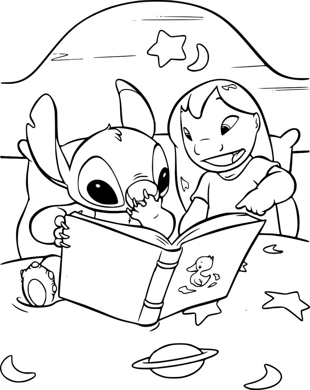 Coloriage Lilo et Stitch jeu à imprimer sur COLORIAGES .info