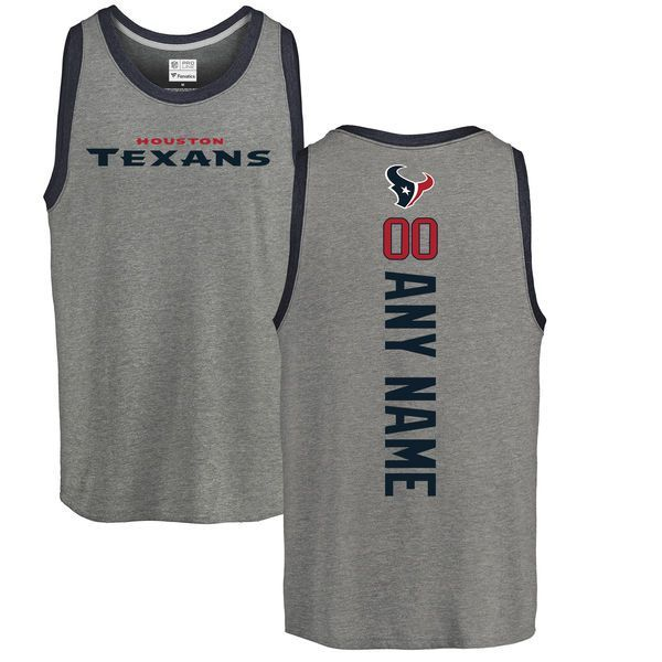 07b82490d91 Men Houston Texans NFL Pro Line by Fanatics Branded Ash Personalized Backer  Tri-Blend Tank Top T-Shirt