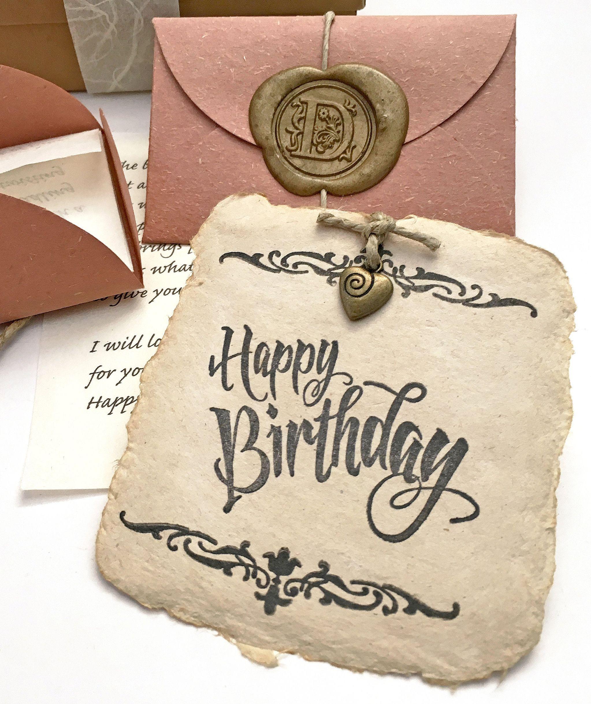 Meaningful Birthday Gift Romanticbirthdaygiftforhusband Birthdaygiftforwife Personalizedletter Uniquebirthdaycard Unusualbirthdaypresent