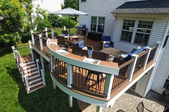 Built In Deck Seating Luxury Deck Add Ons With Built In Grills On Decks Deck Seating Building A Deck Deck Designs Backyard