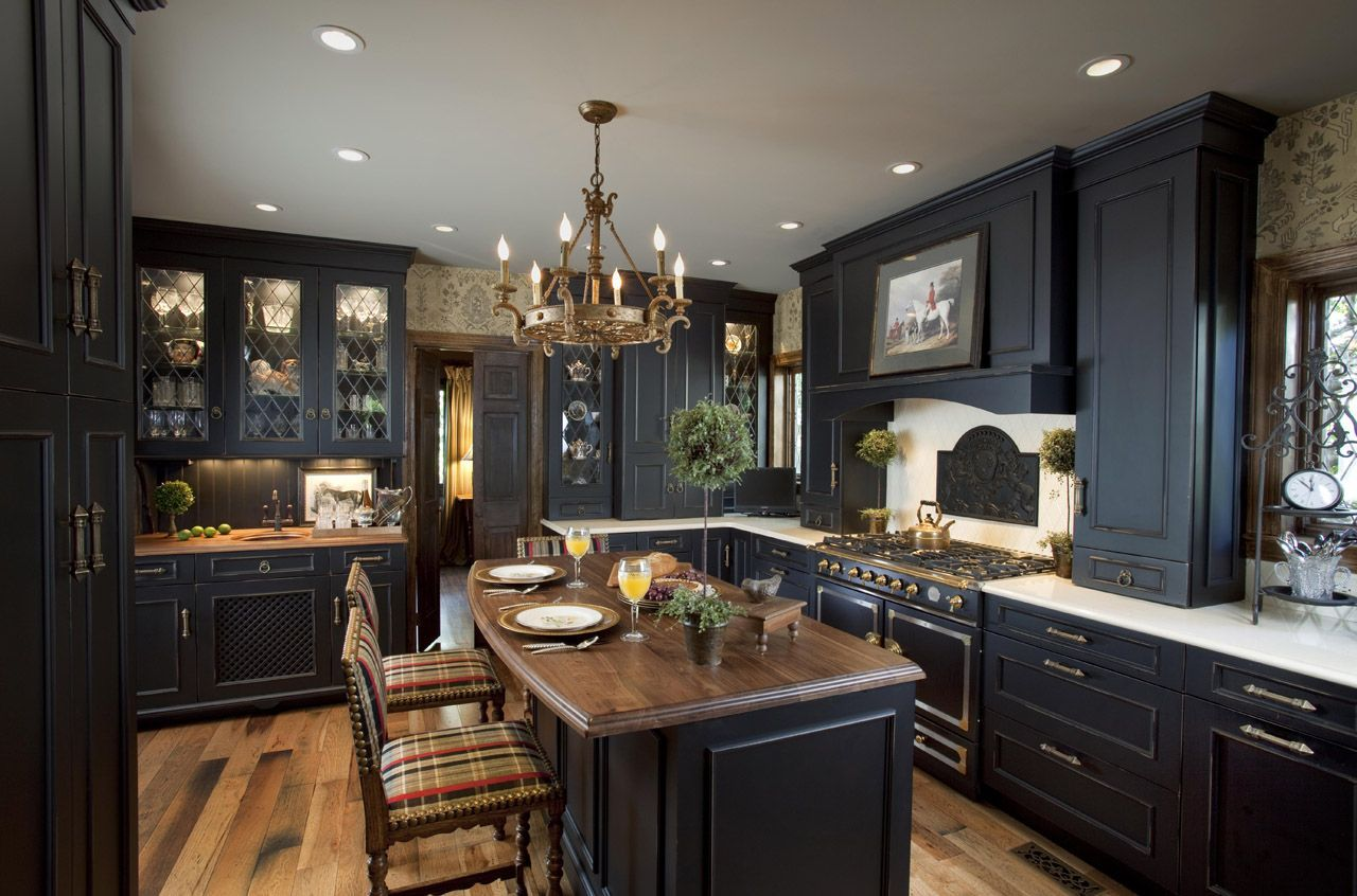 27+ Kitchens with Black Appliances in Trending Design Ideas for