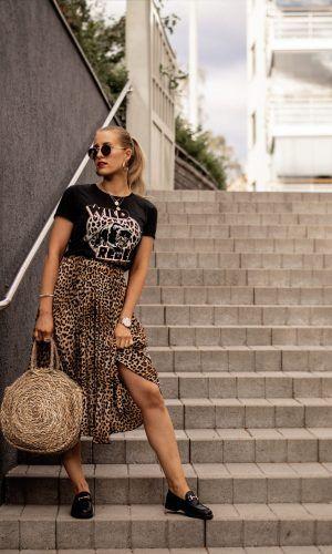 0d23e4f0c saia de onça, moda, estilo, midi, looks, inspiração, leopard skirt, midi  skirt, fashion, style, inspiration, outfits