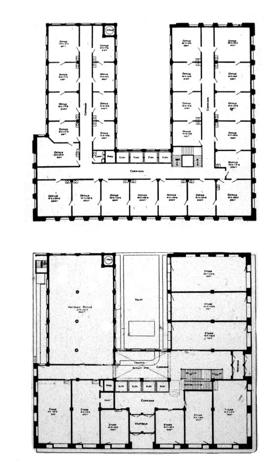 Wainwright building plan sullivan adler 1890 91 h for Sullivan floor plan