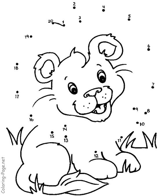 Connect The Dots Printable Dot To Dot Daniel And The Lions Connect The Dots Dot Worksheets