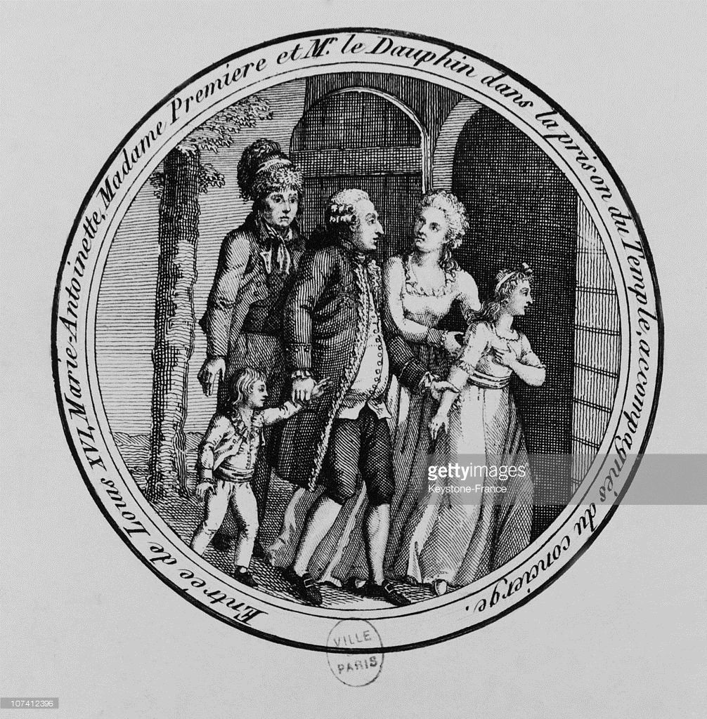 Louis Xvi And His Family House Arrest At Temple Tower In August 10th 1792 Marie Antoinette Louis Xvi Louis