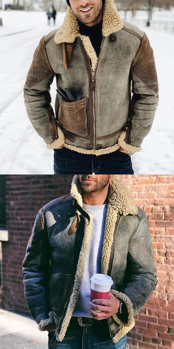 Stylish vintage leather jacket