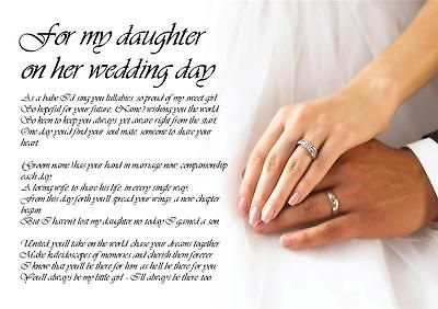 Father To Daughter Wedding Poems