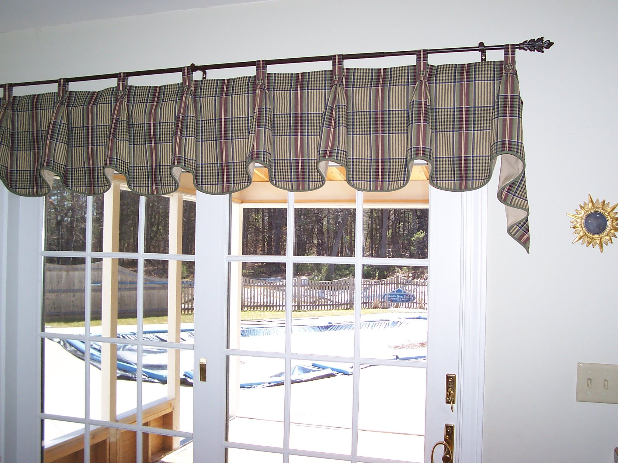 Tab Top Valance With Pleats At Each Tab And Covered Buttons Home Decor Valance Valance Curtains