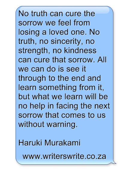 村上春樹 Haruki Murakami. Haruki Murakami on bereavement: