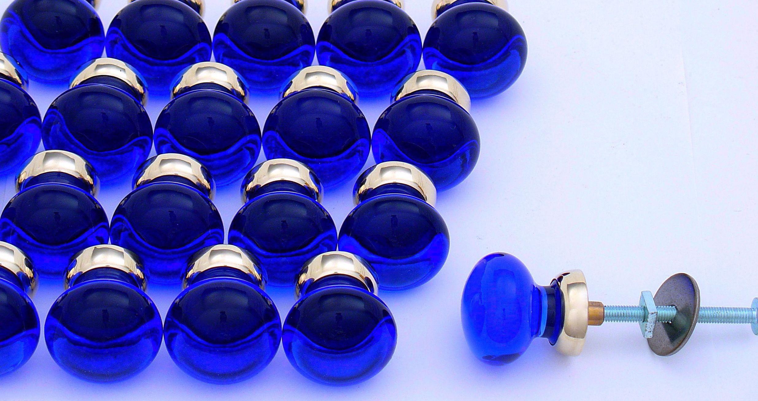 cobalt blue solid glass cabinet knobs https www priorsrec co uk