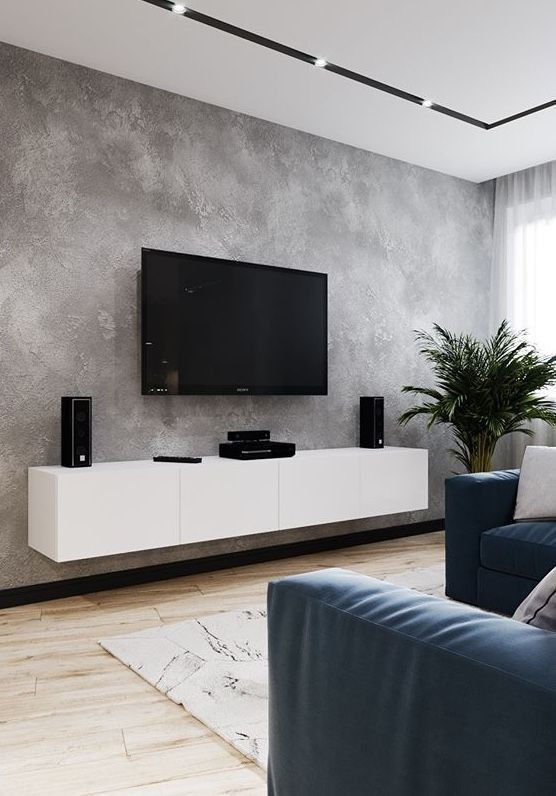 Ustom Design Tv Wall Tips For The Living Room Page 16 Of 56 Home Accessories Blog Ustom Des In 2020 Gray Living Room Design Minimalist Living Room Living Room Grey