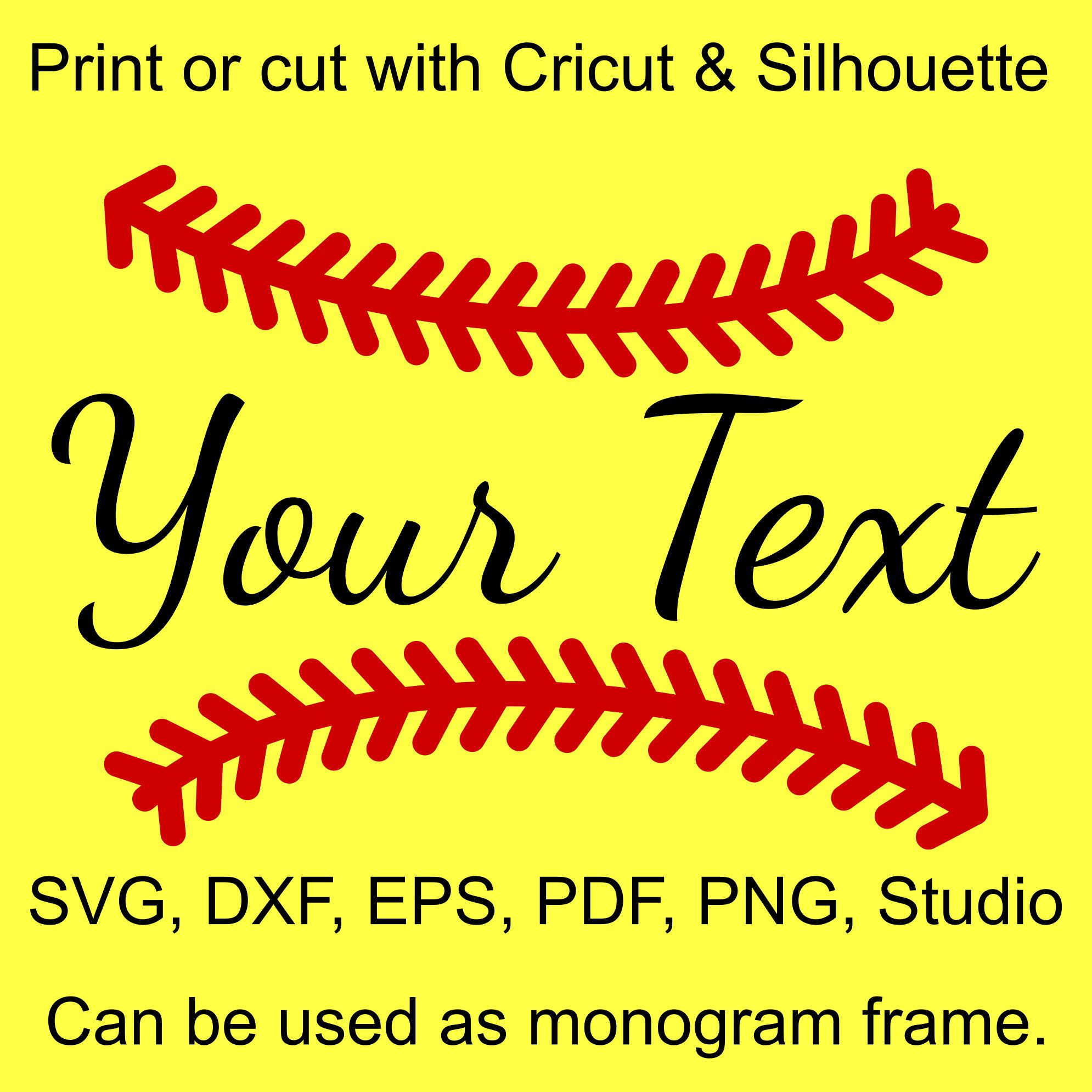 Softball Stitches SVG file for Cricut and Silhouette Svg