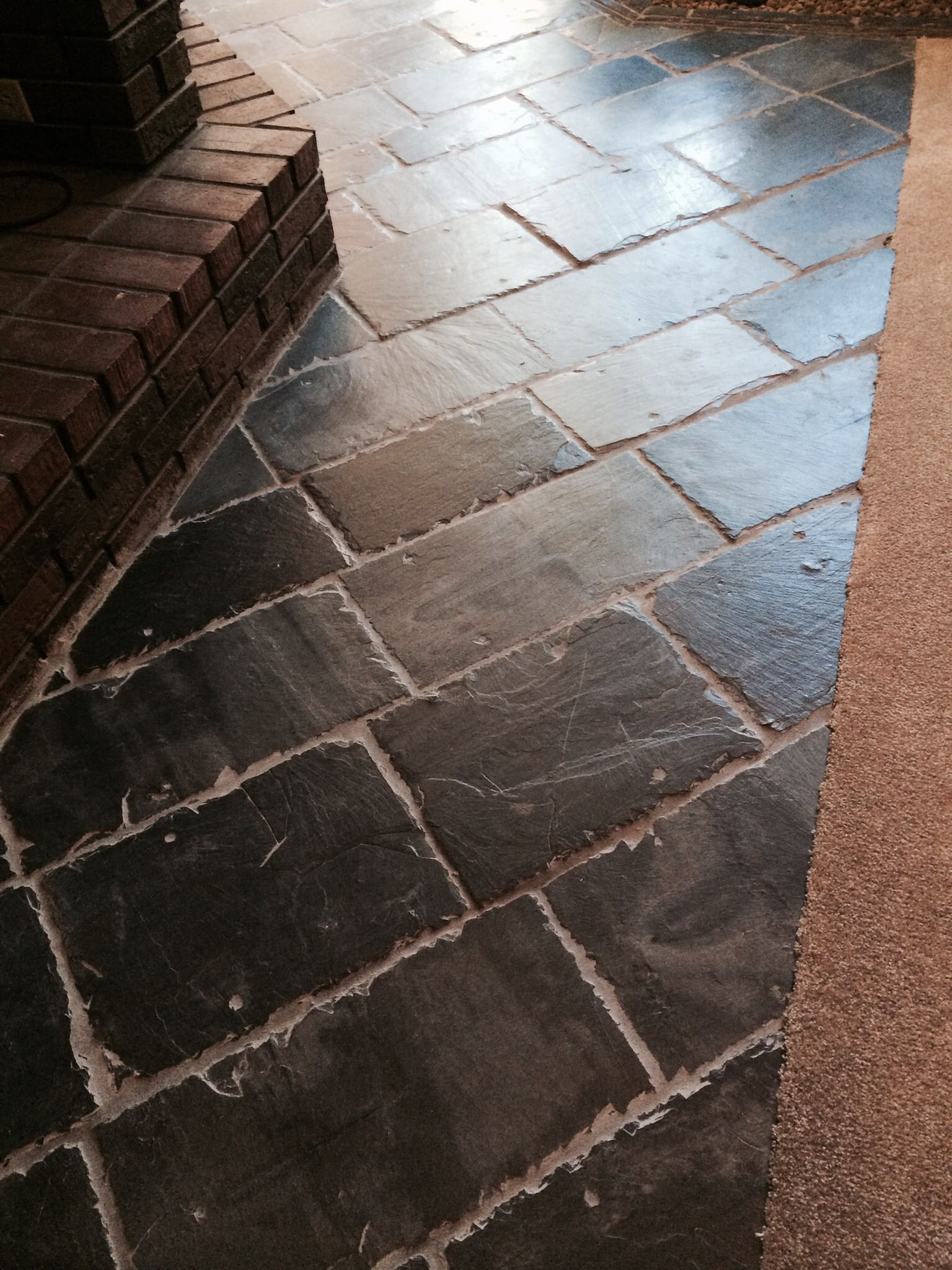 Repurposed Roof Tile As Tile Floors I Love This Slate