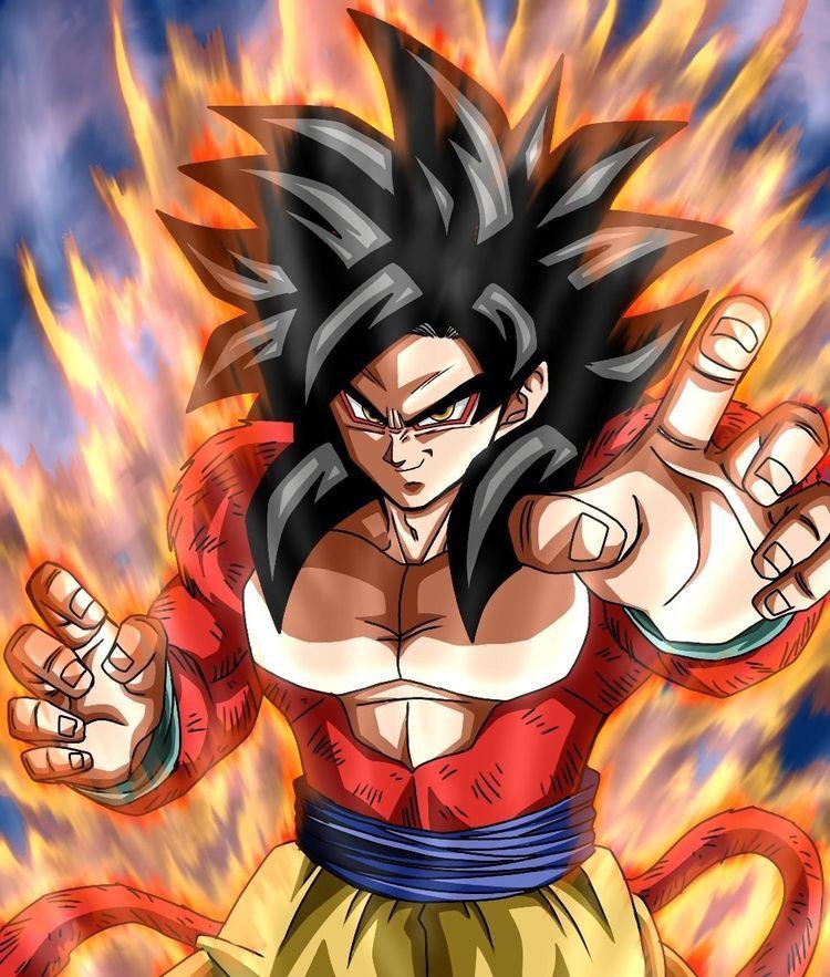 Goku Supersaiyan 4 Ssj4 Gambar Pria