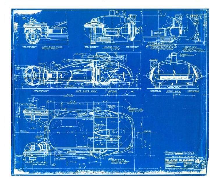 Blade Runner Spinner Blueprint My Pop Culture