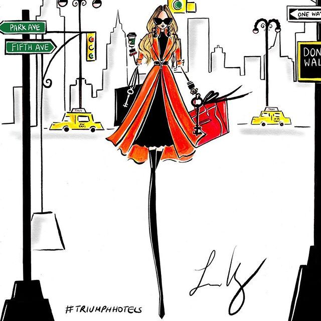 So excited to have partnered with the iconic @triumphhotels for NYFW! I will be live illustrating NYFW guests over the course of three days in three of their beautiful hotels in NYC!! Counting down!!!! ✍ #NYFW #fashionart #fashionillustration #customportraits