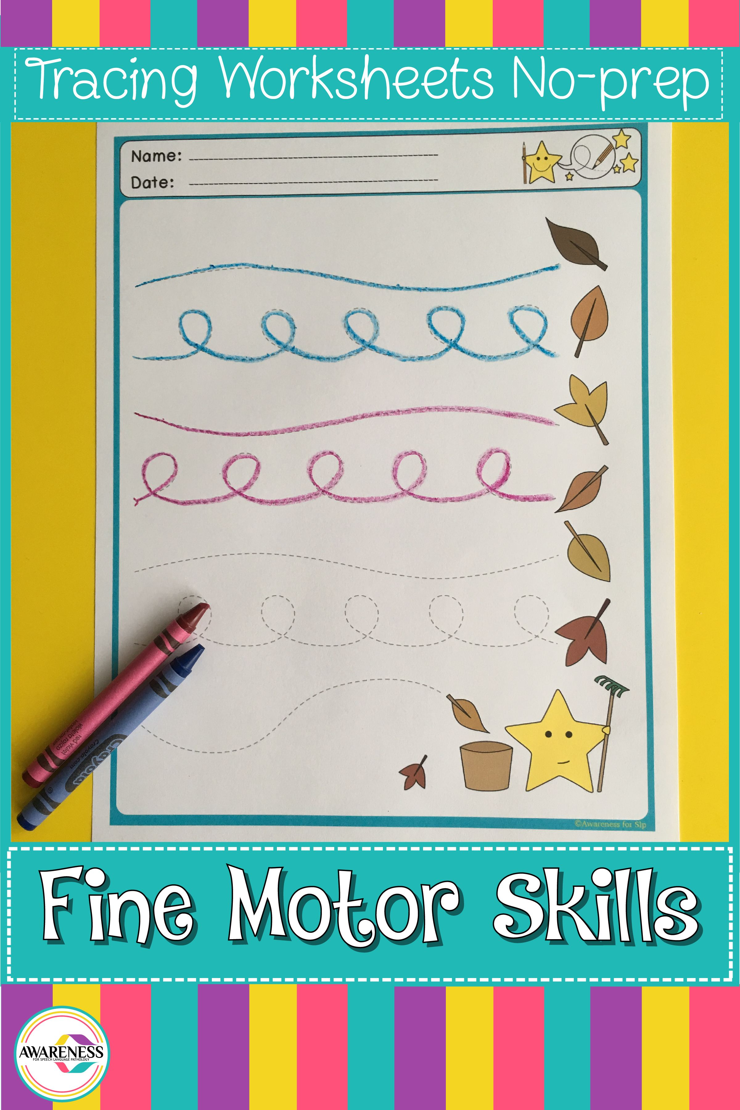 Fine Motor Skills Tracing Lines Activities For