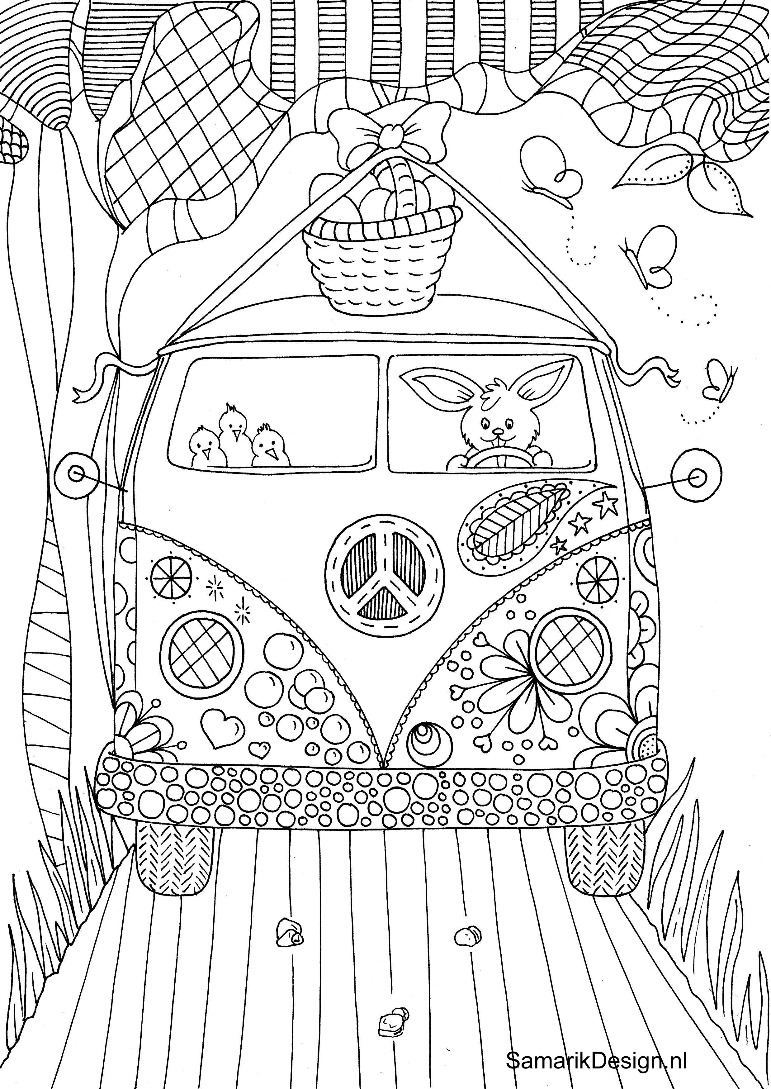 Kombi travels coloring page Coloring