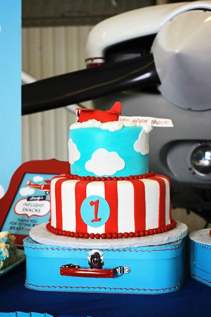 Airline Airplane themed birthday party The Cake Get Ready For