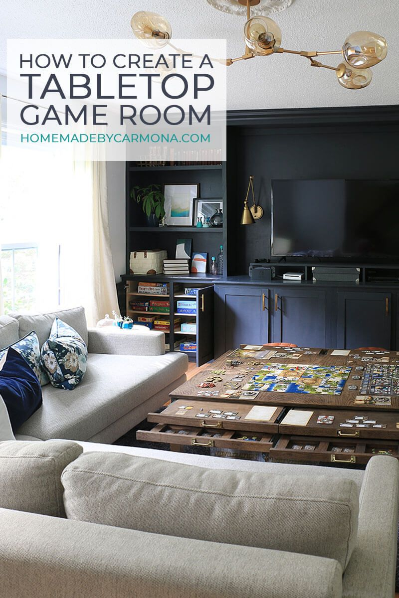 How To Create The Ideal Tabletop Gaming Room Home Made By Carmona Game Room Design Board Game Room Small Game Rooms