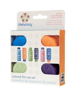 Lifefactory Com Colored Flat Cap Set 4 Caps Fits On All Standard Bottles Great For Milk Storage And With Images Glass Baby Bottles Bpa Free Baby Bottles Baby Bottles