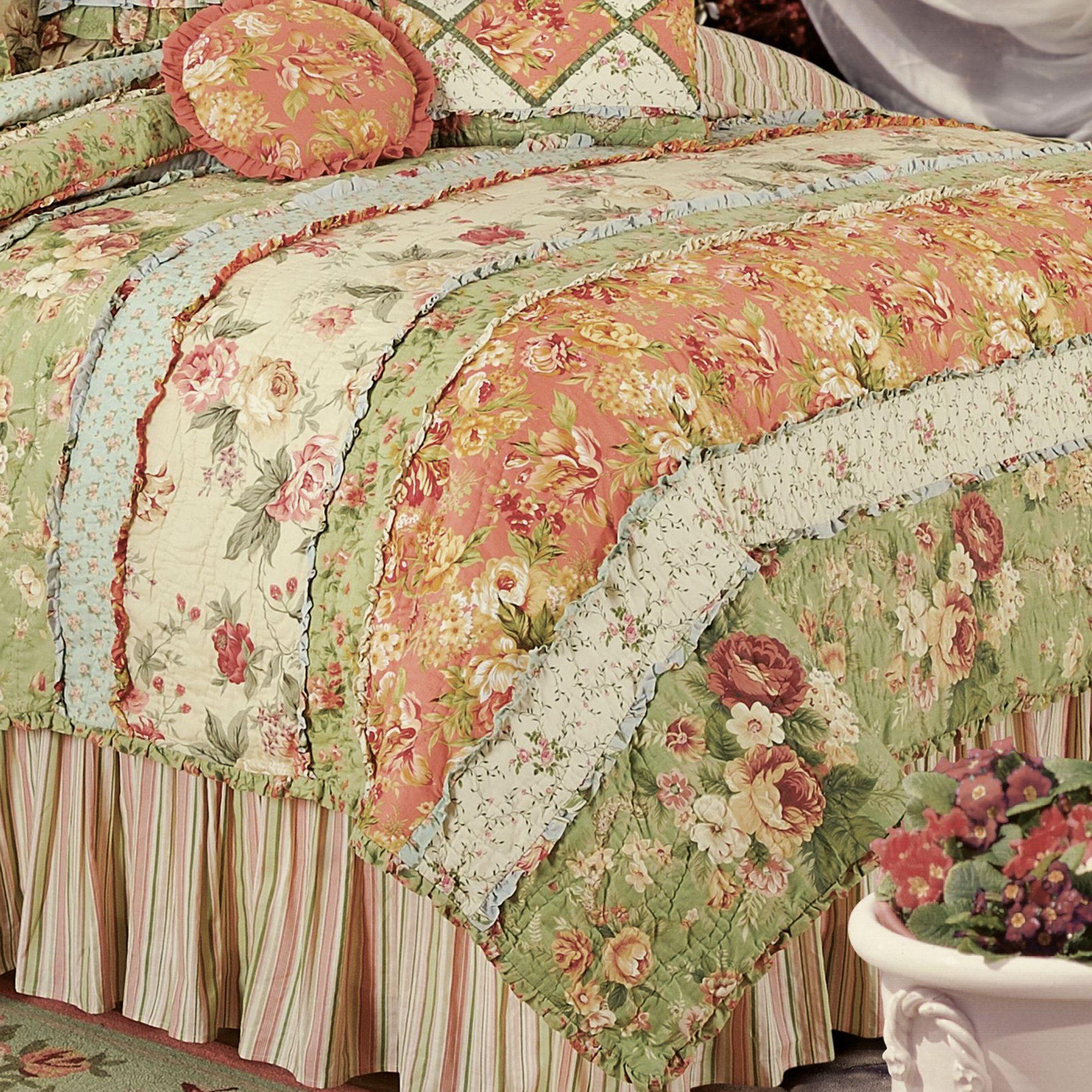 Garden Dream All Cotton Quilt Bedding Quilt Bedding Shabby Chic