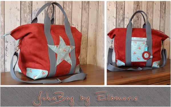 Tasche JohnBoy by Elbmarie (freebook) | Schnittmuster | Pinterest ...