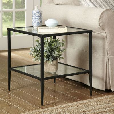 Heidi Side Table Glass Top Side Table Side Table With Storage Side Table