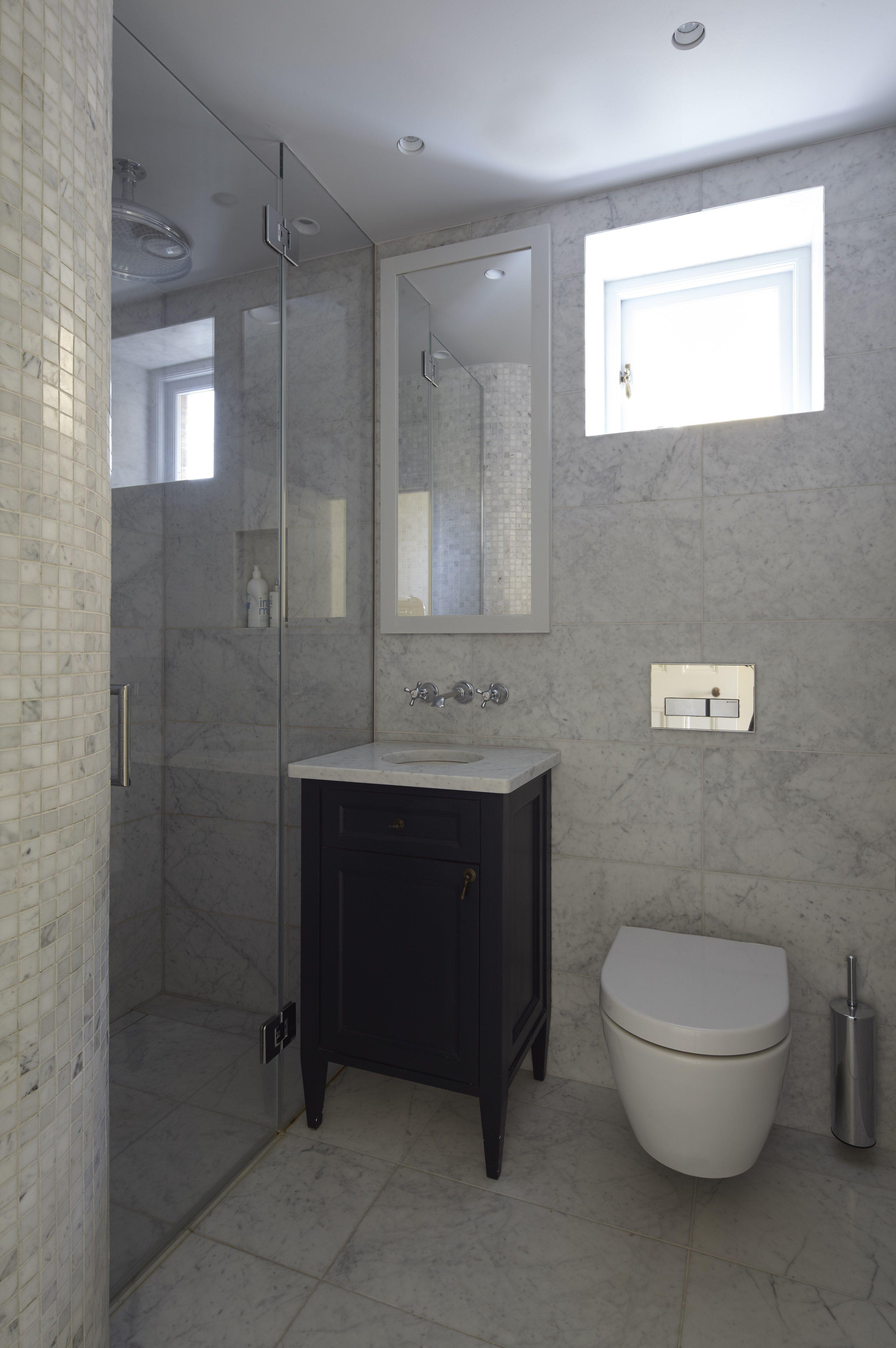 Bespoke bathroom vanity unit, hand painted, marble top | Bathrooms ...