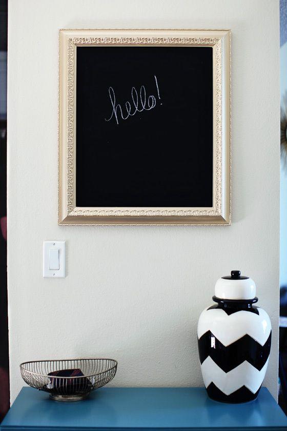 DIY chalkboard | diy | Pinterest | Diy chalkboard, Chalkboards and ...