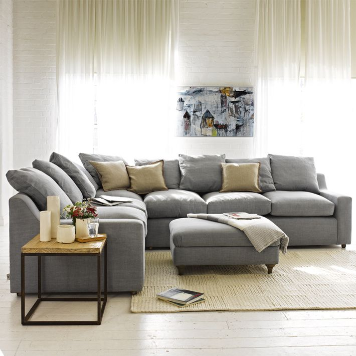 Something Grey Soft Comfy And Big Enough For You Dont Be Afraid To Fill Room With Sofa And Such Us Corner Sofa Living Room Corner Sofa Bed Corner Sofa