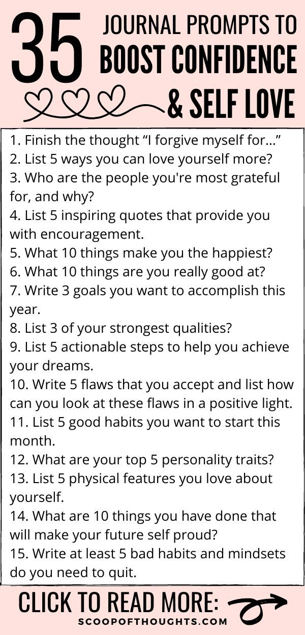 35 Journal Prompts to Boost Confidence & Self Love