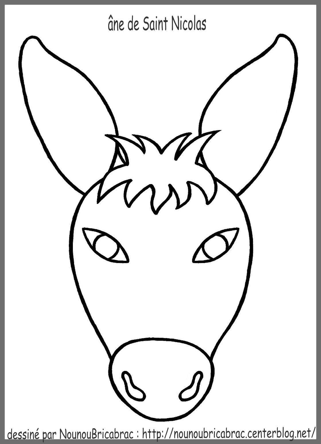 Tête d'un âne pour fabriquer l'âne de Saint Nicolas | Dessin