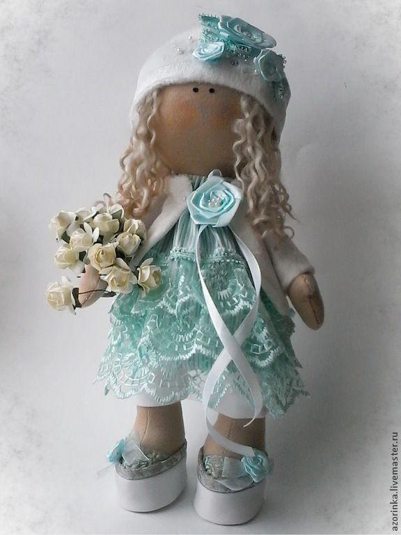 Купить Интерьерная кукла Елизавета - мятный, для дома и интерьера, интерьерная кукла, кукла в стиле Тильда