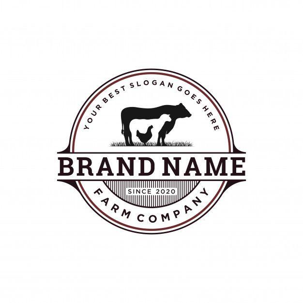 Vintage Livestock Logo Design Farm Logo Design Logo Design Vintage Logo Design