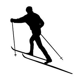 Cross Country Skiing Silhouette Skier