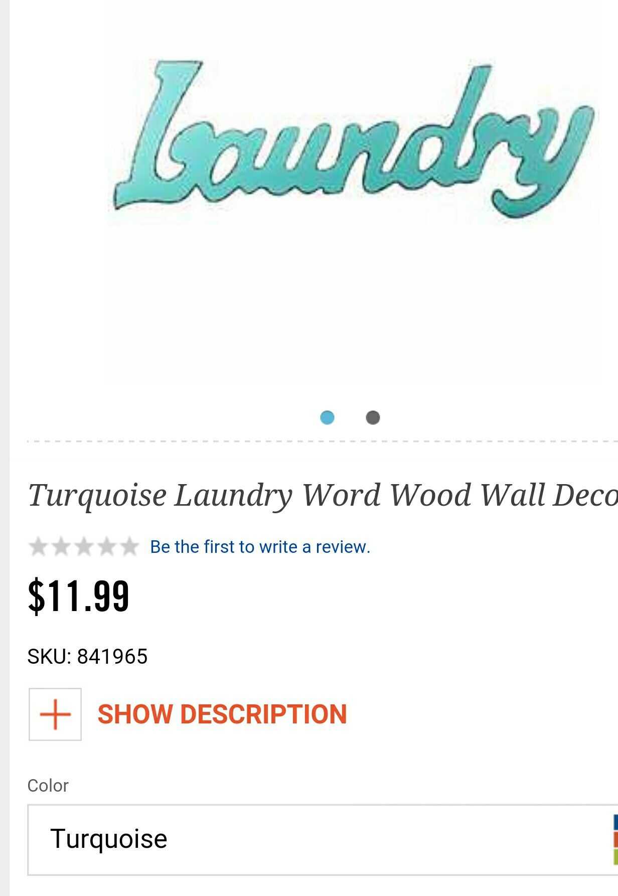 Laundry room wood sign in turquoise $11.99 #HobbyLobby