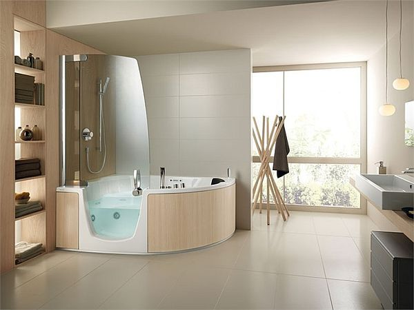 383 bathtub and shower combination by Lenci Design Bathtubs